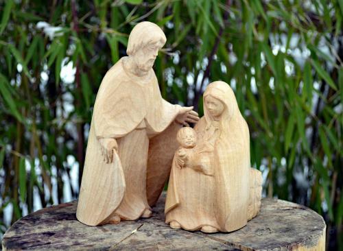 Familie 16cm LIndenholz gewachst