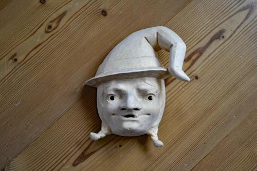 Maske 18cm natur